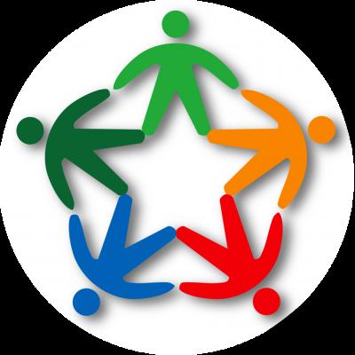 Logo servizio civile ridisegnato fondo circolare